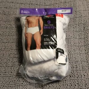 Fruit of the loom tag free briefs set of 9 NWT